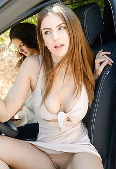 Downblouse In Car Pics